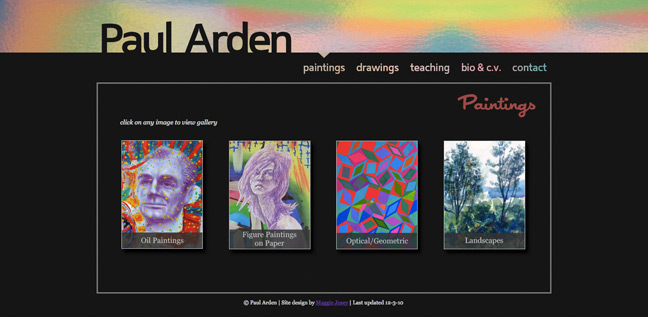 Paul Arden Art Website