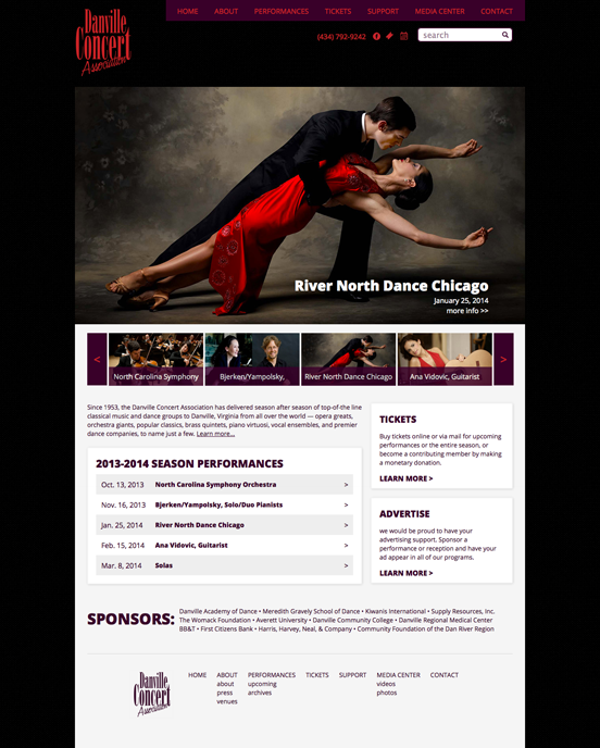Danville Concert Association Website