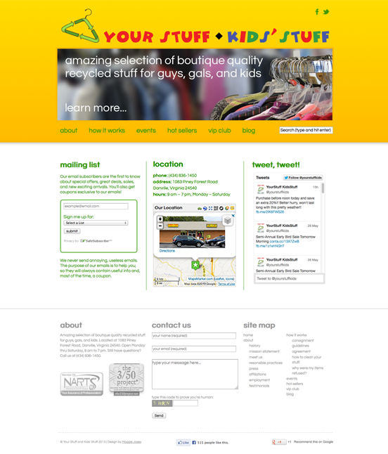 Your Stuff & Kids' Stuff Website